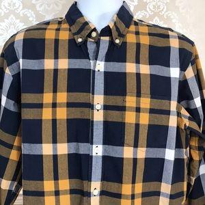 Men's J. Crew Navy Plaid Button Down Shirt